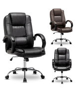 Computer Desk Office Gaming Chair Ergonomic Executive Swivel Leather Hig... - $206.00