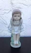 Nao by LLADRO DAISA Girl Sitting on a Stump Leaning Over 1994  Made in S... - $35.00