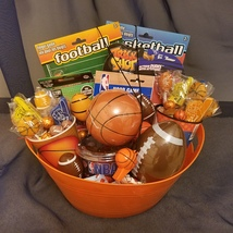 Football and Basketball Gift Basket - $60.00