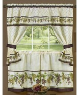 3 pc Kitchen Curtains Tailored Cottage Set, GRAPES TUSCANY by Achim - $18.80