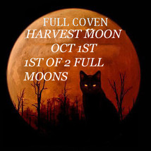 Haunted 1ST Of 2 Moons Oct 1ST Full Coven Rare Harvest Moon Magick Jewelry Witch - $87.77