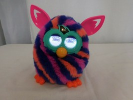 Hasbro Furby Boom Diagonal Stripes Pink Ears Talking Interactive Toy A43... - $23.78