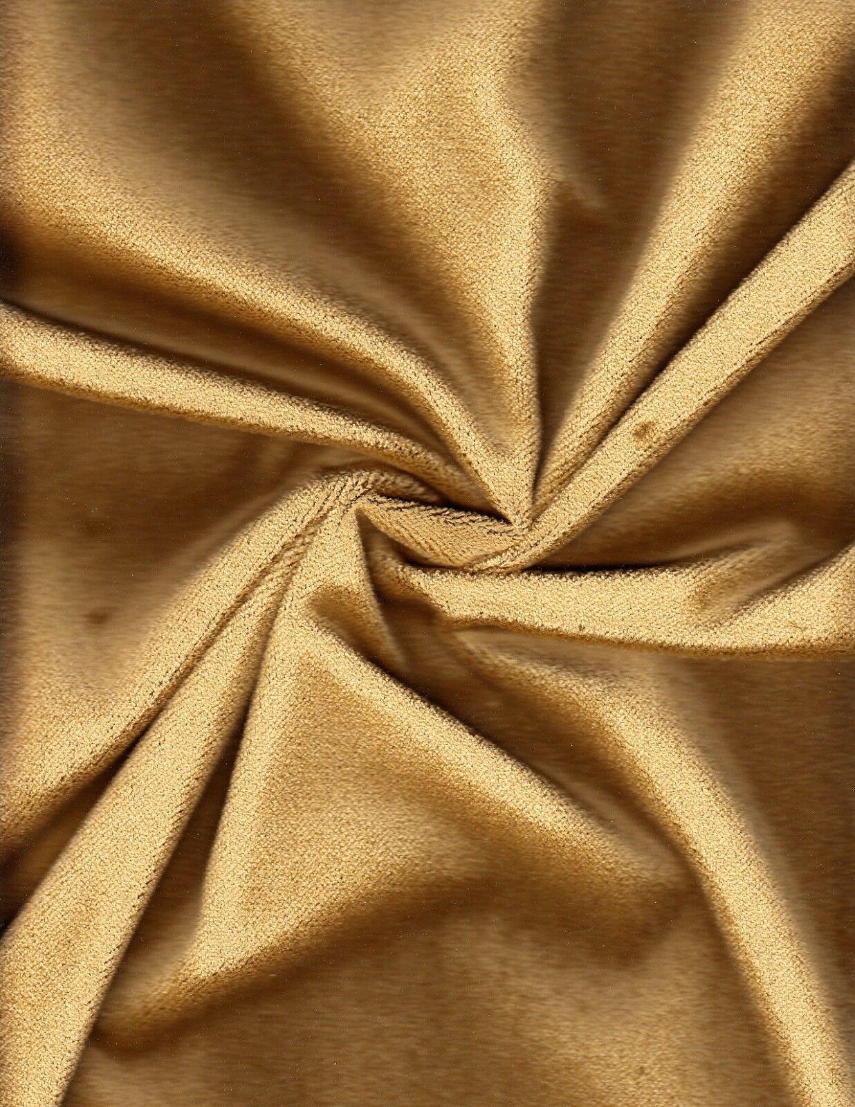 Calvin Fabrics Upholstery Fabric Gold Velvet 36 yds EX1