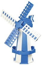 6½ FOOT JUMBO POLY WINDMILL - Blue & White Working Garden Weathervane Am... - $695.60 CAD