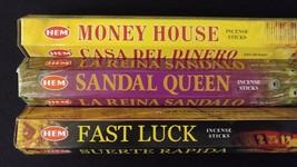 Money House Sandal Queen Fast Luck 60 HEM Incense Stick 3 Scent Sampler ... - $7.00