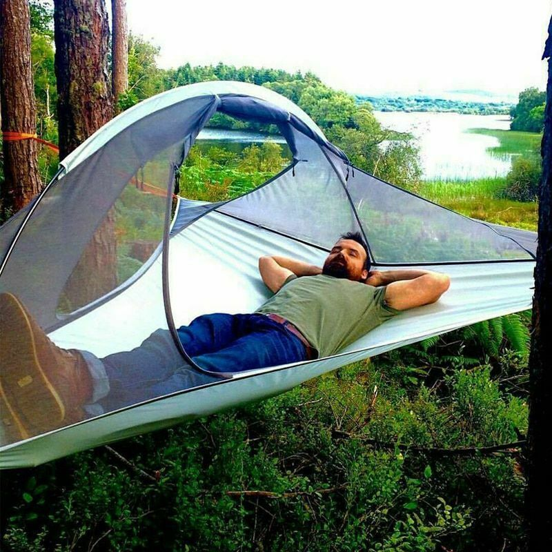 Outdoor Portable Waterproof Hammock Camping Hanging Bed Traveling Tree Tent