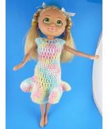"""Mattel Viacom Doll Blond Hair & Green Eyes 13"""" in Crocheted Dress 2008 - $10.29"""