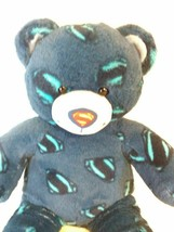 "Build A Bear Superman Man of Steel Plush Blue Bear DC Comics 18""   - $14.50"