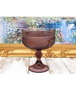 Purple Footed Vase Depression Glass Pedestal Vase, Pressed Glass Compote... - $72.00
