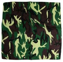 NEW MEN'S 12 PACK COTTON ARMY CAMOUFLAGE HEAD WRAP SCARF WRISTBAND BANDANA GREEN image 3