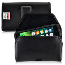 iPhone 8 Plus iPhone 7 Plus Holster Black Clip Otterbox Case Leather Turtleback - $37.99