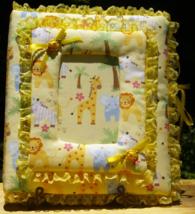 Yellow Safari Animals Gender Neutral Baby Custom Padded Photo Album/Scra... - $40.00