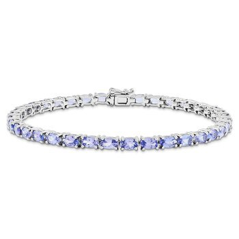 Primary image for Lex & Lu Sterling Silver Tanzanite Bracelet 7""