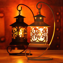 Iron Moroccan Style Candlestick Candleholder Candle Stand Light Holder L... - $18.99