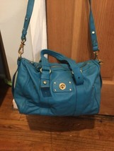 NEW Marc by Marc Jacobs Shifty Leather Barrel Aquamarine Satchel $458 Nordstrom - $279.52