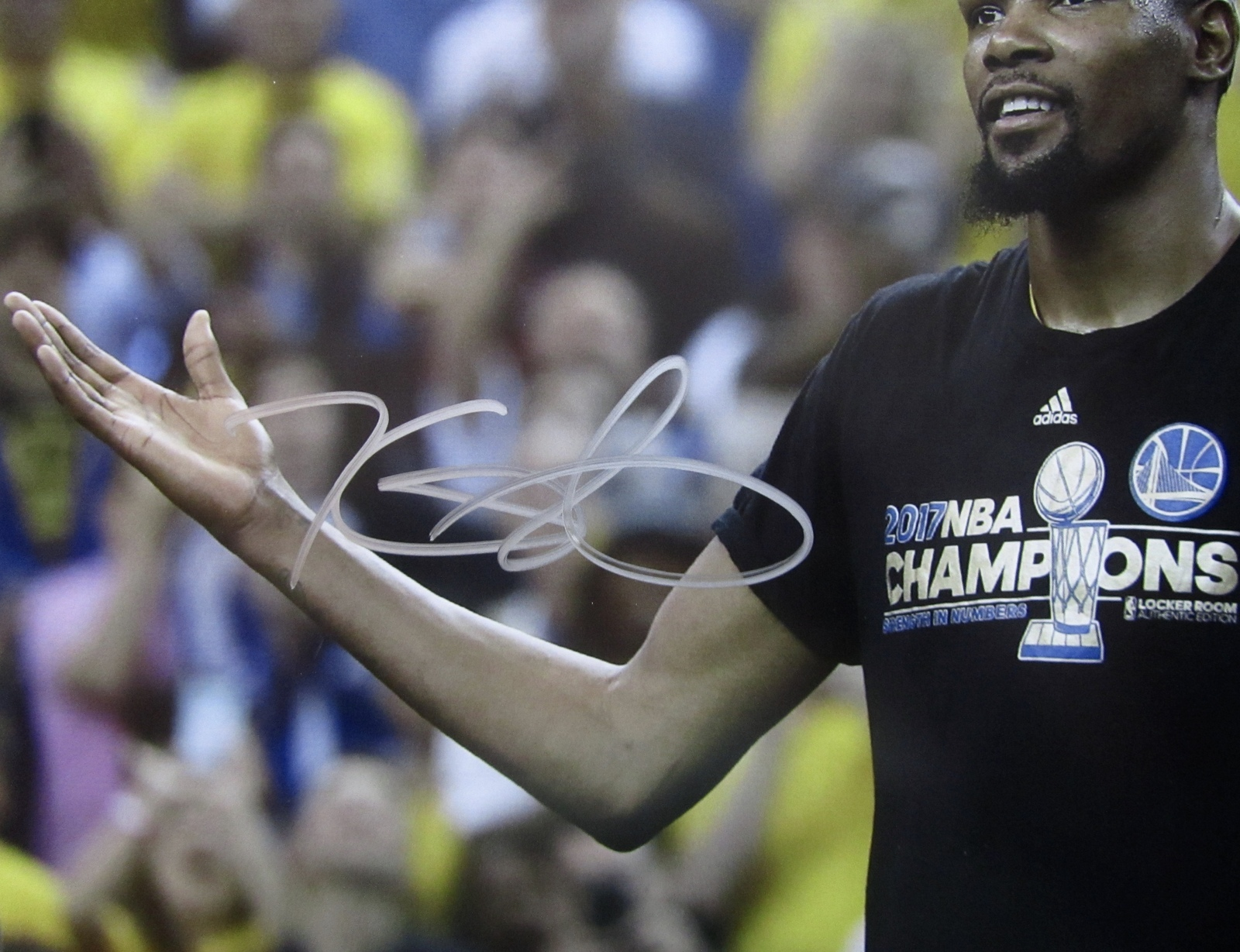 KEVIN DURANT AUTOGRAPHED HAND SIGNED 11x14 GOLDEN STATE WARRIORS PHOTO 3 w/COA