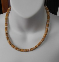 """Cork Style Brown Bead Necklace Screw-On Barrel Clasp 18"""" - $15.99"""