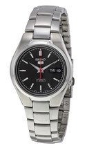 Seiko Automatic SNK607 SNK607K1 Men Black Dial Day Date Stainless Steel Watch - $67.00