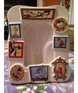 Vintage Warner Bros Looney Tunes Characters Ceramic Open Photo Picture F... - $22.99