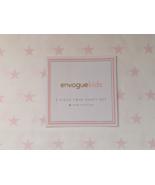 Envogue Kids Pink Stars on White Cotton Sheet Set Twin - $34.00