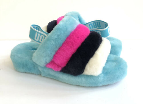 Primary image for UGG FLUFF YEAH SLIDE CLEAR WATER MULTI SLIP ON SANDAL US 8 / EU 39 / UK 6