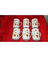 OTAGIRI WILD STRAWBERRY COFFEE CUP x 6 ALL GENTLY USED FREE USA SHIP - $28.04