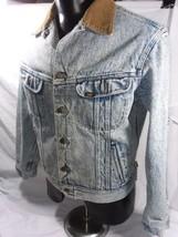 LEE  Denim Trucker Jacket  Type 3  Size 42 R Corduroy Collar Blanket Li... - $93.49