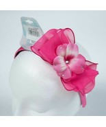 CHEER FOR CAROLE GIRLS PINK HEADBAND LARGE FLOWER BOW RHINESTONES NEW - $9.89