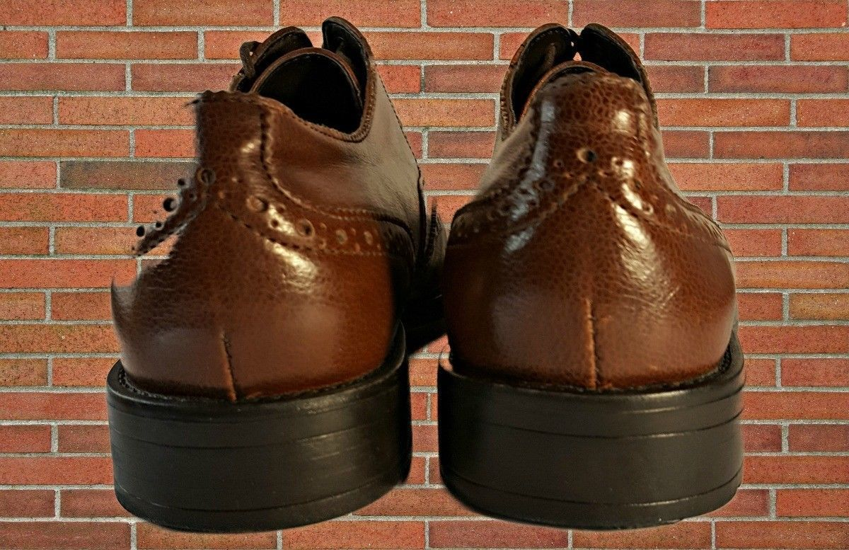 Dexter Comfort Brown Leather Wingtip Lace Up Oxford Shoes Size 9.5M