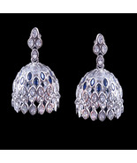 Filigree Jhumkis/ Jhumka, Bridal Earrings, Wedding Earrings, Cut Work St... - $89.00