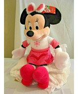 """Disney Minnie mouse 22"""" Plush just play Large Pink Winter snowflake 2013... - $15.83"""