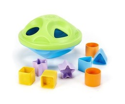 GREEN TOYS Shape Sorter, Made in USA, Age: 6M+, SPSA-1036