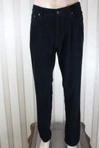 RALPH LAUREN POLO Men's 36 x 32 Black 650 Flat Front Corduroy Pants EUC - $31.92