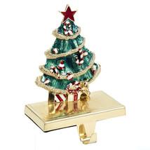 Kurt S. Adler Gold Metal Enameled Christmas Tree Stocking Hanger - $28.88