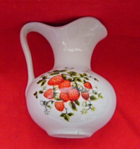 Primary image for  Vintage White with Strawberries Mini Pitcher