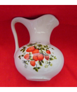 Vintage White with Strawberries Mini Pitcher - $14.99
