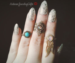 Enchanted Midi Rings Knuckle Rings Boho Midi Rings Stacking Rings Bohemian Rings - $28.00+