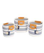 NEW Nautica Handwoven Rope Storage Baskets with Handles, 3-piece *FREE S... - $74.99