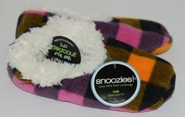 Snoozies 200192P Foot Coverings Pink Buffalo Plaid Kids 13 Through 1 image 2