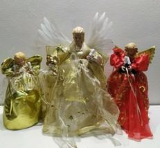 Lot 3 Vintage Christmas ceramic Angels Holiday Lights Decor  - $33.63