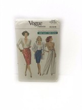 Vogue 7540 Misses Straight Skirt & Pants Vintage Sewing Pattern - $9.89