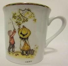 Vintage Holly Hobbie Coffee Cup Mug Table Talk Made Japan Gold Rim WWA G... - $8.88
