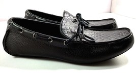 Alfani Driving Loafers Mens Black Leather Slip On Shoes Size 10 M - $64.30