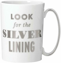 """Kate Spade New York SIMPLY SPARK MUG  """"Look for the Silver Lining""""  Whit... - $17.99"""