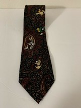 Looney Tunes Men's Necktie Bugs Bunny Wile E Coyote Tas Martin!  Awesome - $9.99