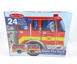 Melissa Doug Giant Fire Truck Puzzle 24 Pieces 4 Feet Long Preschool NEW... - $14.72