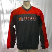 Reebok NFL Football Mens Cleveland Browns Windbreaker Size M - $24.74