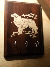 Shar Pei. [Sample Picture] Hand engraved Wood Key Rack by Ingrid Jonsson - $23.00