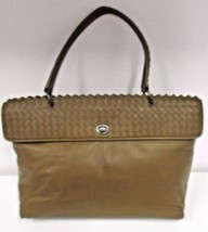"BOTTEGA VENETA Brown  Smooth Lambskin Leather ""Tina"" Top Handle Bag - $929.99"