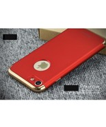 IPAKY 3-in-1 Electroplating Hard PC Back Case for iPhone 7 4.7 inch - Red - $9.77